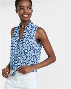 Original Fit Floral Sleeveless Portofino Shirt