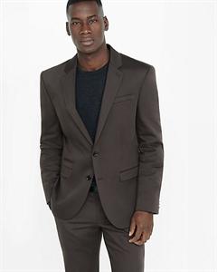 Photographer Brown Cotton Sateen Suit Jacket