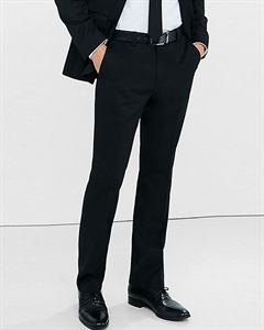 Classic Producer Black Wool Blend Twill Suit Pant