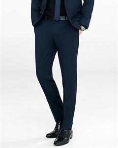 Slim Photographer Navy Wool Blend Twill Suit Pant