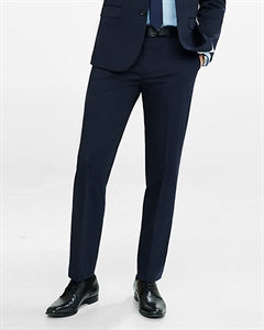 Slim Photographer Navy Cotton Sateen Suit Pant