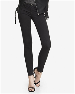 Black Low Rise Extreme Stretch Jean Legging