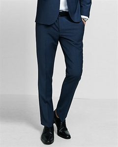 Extra Slim Innovator Navy Blue Performance Stretch Wool Blend Suit Pant