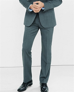 Classic Producer Gray Wool Blend Twill Suit Pant
