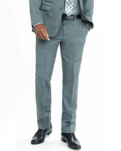 Slim Photographer Gray Wool Blend Twill Suit Pant