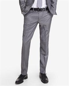 Extra Slim Innovator Micro Twill Gray Suit Pant