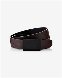 2-IN-1 Reversible Textured Matte Plaque Belt