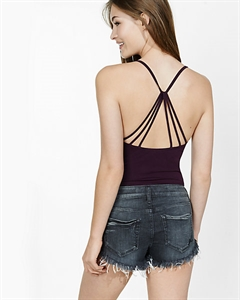 Express One Eleven Pyramid Strap Cami Bodysuit