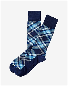 Plaid Dress Socks