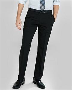 Slim Photographer Black Cotton Sateen Suit Pant