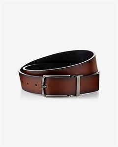 2-IN-1 Reversible Antiqued Metal Buckle Belt