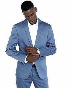 Photographer Cotton Sateen Blue Suit Jacket