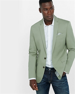 Slim Photographer Twill Sage Green Jacket