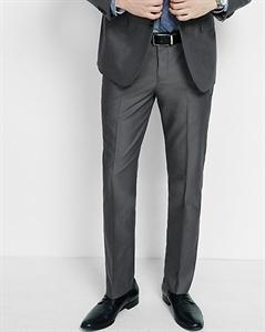 Slim Photographer Oxford Cloth Gray Suit Pant