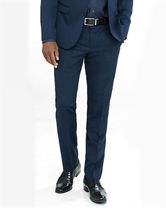 Extra Slim Innovator Navy Wool Blend Twill Suit Pant