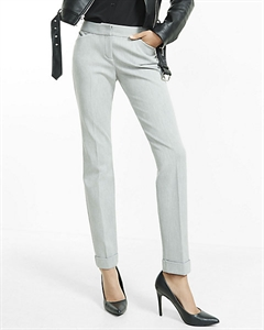 Low Rise Heathered Editor Ankle Pant