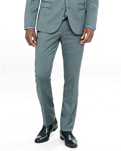 Extra Slim Innovator Gray Wool Blend Twill Suit Pant