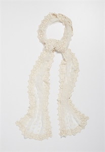 Floral Crochet And Embroidered Mesh Scarf