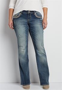 Vigoss® Plus Size Bootcut Jeans With Glitter And Sequins