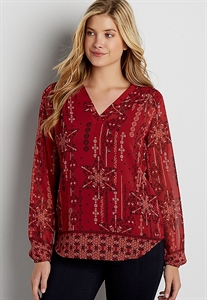 The Perfect Patterned Blouse With Smocked Yoke