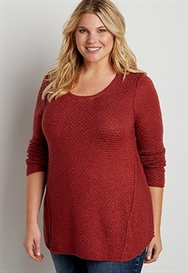 Plus Size Pullover Swing Sweater