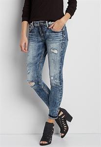 Silver Jeans Co.® Kenni Ankle Crop Skinny Girlfriend Jeans