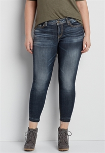 Silver Jeans Co.® Plus Size Suki Skinny Jeans With Released Hem