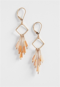 Earrings With Beaded Sticks