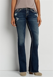 Silver Jeans Co.® Suki Bootcut Jeans With Raw Bottom Hem
