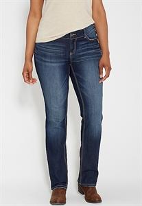 Plus Size Ellie Straight Jeans In Dark Wash