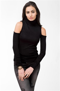 Cold Shoulder Turtleneck
