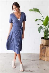 All Wrapped Up Midi Dress
