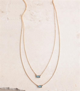 Double Take Gem Necklace