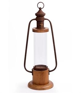 Vintage Wood and Metal Camp Lantern