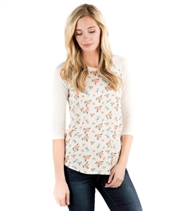 Ball Game Tee - Rose Blossoms
