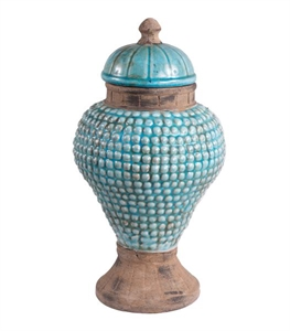 Distressed Terra Cotta Jar