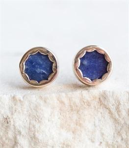 Blue Scallop Earrings