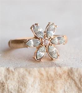 Crystal Petal Ring