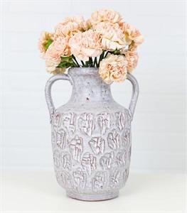 Grey Boston Double Handle Vase