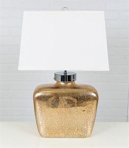 Mercury Glass Square Table Lamp