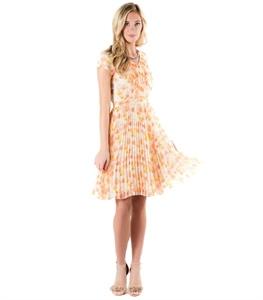 Pleasing Pleats Dress - Blurred Floral