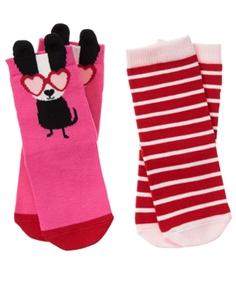 Dog & Stripe Socks
