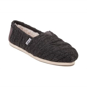 Womens TOMS Classic Cable Knit Slip On Casual Shoe