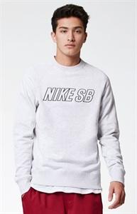 Nike SB Everett Reveal Light Gray Crew Neck Sweatshirt
