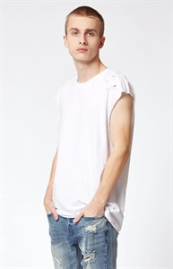 PacSun Hydros Cap Sleeve Destroyed Muscle Tank Top