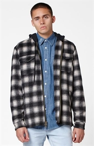 Lira Nash Hooded Plaid Flannel Zip Jacket