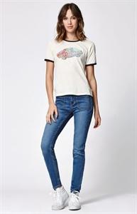 Bullhead Denim Co. Groupie Blue Low Rise Patch Pocket Skinniest Jeans