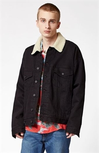 PacSun Oversized Denim Sherpa Trucker Jacket