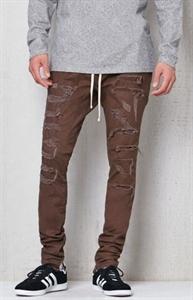 PacSun Drop Skinny Destroyed Stitch & Repair Jogger Pants