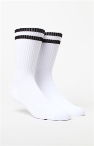 PacSun Two Stripe White & Black Gym Socks